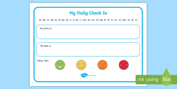 Early Level Wipe Clean Daily Check In Desk Mat - Name label, soft start, start of the day, placemat, how are you feeling today, Scottish