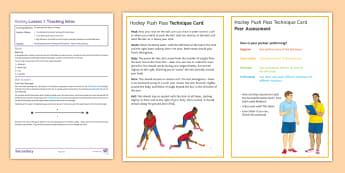 Hockey Lesson 3: Push Pass - Lesson Plan, Hockey, winter sport, invasion Game