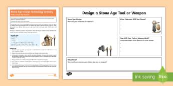 KS2 Stone Age Weapon Activity - Stone Age, Prehistoric, Palaeolithic, spear, arrow, flint, wood, tool, knots
