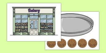 Five Cupcakes Picture Cut Outs - nz, new zealand, five cupcakes, picture, cut outs