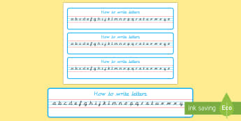 Cursive Alphabet Strip - - cursive, alphabet, strip, handwriting, writing area, eyfs, ks1,