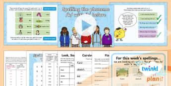 PlanIt Y1 Term 2B W1: ke, ki, ky Spelling Pack - Spellings Year 1, Term 2B, Week 1, k before e, i and y