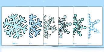 Large Display Snowflakes - large, display, snowflakes, winter, christmas