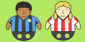 Footballer Finger Puppets - football, world cup, role play, games