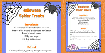 Halloween Spider Treats Recipe - halloween, spider, treats, recipe