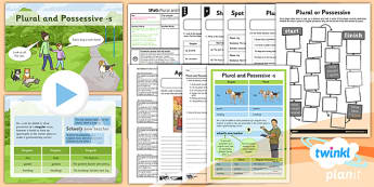 PlanIt Y4 SPaG Lesson Pack: Plural and Possessive S - planit, y4, spag, lesson, pack, plural, possessive