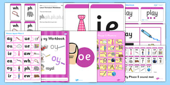 Teaching Assistant Phase 5 Phonics Resource Pack - phase 5, phonics
