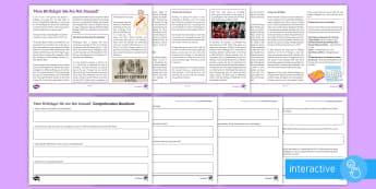 More Birthdays! We Are Not Amused! Differentiated Comprehension Go Respond  Worksheet / Activity Sheets - Comprehensions KS3/4 English, commonwealth, territories, Australia, Canada, Fiji, New Zealand, Briti