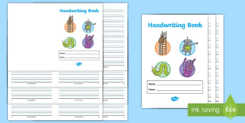 Twinkl Handwriting Lined Booklet - handwriting books, the journey to, guide lines, line guides, lines, lined paper, activity books