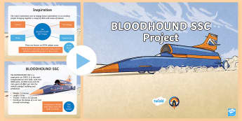 KS2 BLOODHOUND SSC Project Assembly PowerPoint - land speed record, assemblies, record breaking, fastest car, LKS2 and UKS2