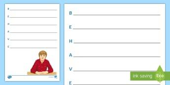Behave Acrostic Poem - Behave, Classroom Management, Behaviour, Acrostic, poem, pshce