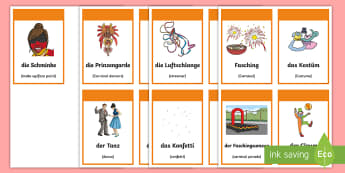 Carnival in Germany Flashcards - Carnival, Germany, German, Fasching, Fastnacht, Karneval