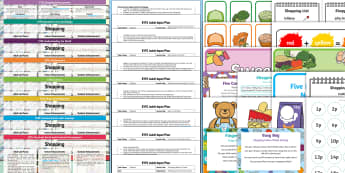 EYFS Shopping-Themed Bumper Planning Pack - Early Years planning, plan, Foundation, continuous provision, enhancements, shops, money,  adult led
