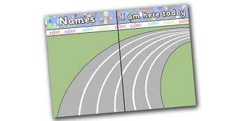 The Olympics Self-Registration Background Cycle Track - the olympics, olymic games, 2012, self registration, background, cycle track, register, editable, labels, registration, child name label, printable labels