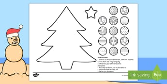 Christmas Tree Cutting Skills Activity Sheet - December, star, Jesus, celebrate, tradition, Desember, EAL