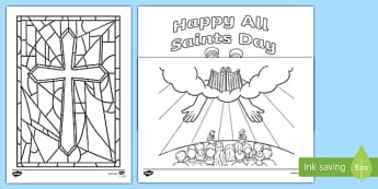 All Saints Day Colouring Pages