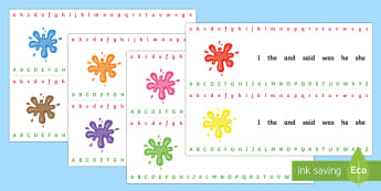 photograph about Alphabet Strip Printable identified as Alphabet Strips - English Instrument - Twinkl