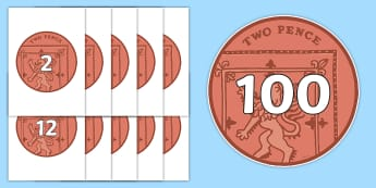 Counting in 2s on 2ps - Counting, coin, money, numberline, Number line, Counting on, Counting back, counting in 2s, coins, currency, pound, pence, foundation numeracy, pay, shop