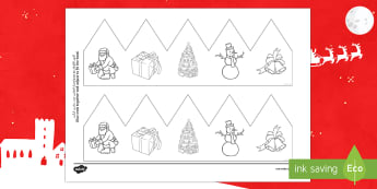 Christmas Pictures Party Hat Template Activity Arabic/English  - Christmas, Nativity, Party, hat, crown, Christmas, Santa, EAL