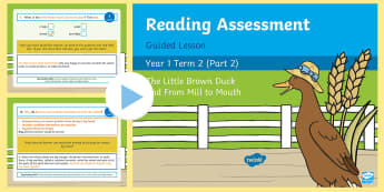 Year 1 Reading Assessment Term 2 Paper 2 Guided Lesson PowerPoint - Year 1 Reading Assessment Guided Lesson PowerPoints, reading, read, assessment, test, powerpoint, ye