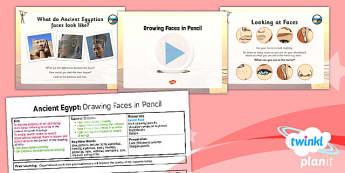 Art: Ancient Egypt: Drawing Faces in Pencil UKS2 Lesson Pack 1