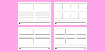 Storyboard Templates - storyboard, stories, story, books, reading, flashback