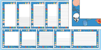 Science Page Borders - science, page border, borders, writing