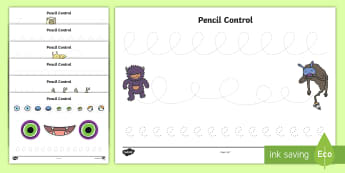 Crazy Creatures Pencil Control Activity Sheets - EYFS, Early Years, KS1, Key Stage 1, physical development, pencil control, pencil grip, early writin