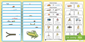 Write the Room CVC Words Worksheet / Activity Sheet - CVC, phonics, phase 2, phase 3, write, writing, scribe, phoneme frame,