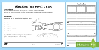 Australian States and Territories – Uluru Special TV Show Storyboard Activity - Year 3, ACHASSK066, geography, Australian curriculum, conservation, Northern Territory, lesson, rese