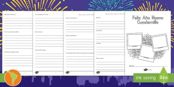 Cuadernillo: Actividades sobre el Año Nuevo  - año nuevo, cuadernillo de año nuevo, nuevo año, español