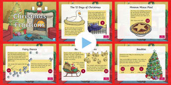 LKS2 Christmas Fractions PowerPoint
