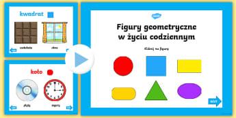 Prezentacja PowerPoint Figury geometryczne w życiu codziennym - figury, geometria, geometryczne, matematyka, figura, geometryczna, koło, trójkąt, kwadrat, prosto