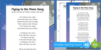 Flying to the Moon Song - EYFS, Early Years, space, rocket, moon, stars