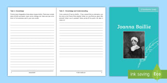 Joanna Baillie Poet Study Pack - Poetry analysis, poetry exploration, GCSE English Literature, GCSE Poetry, poetry anthology, Joanna
