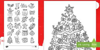 Adventskalender Ausmalbilder - Weihnachten, Advent, Vorweihnachtszeit, Kalender, Malen, Farben, warten,,German