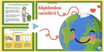 Săptămâna reciclării PowerPoint - t-sc-076-recycle-week-powerpoint  PowerPoint, săptamana reciclării, săptămâna mondiala a recicl