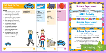 EYFS Transport Science Experiments Resource Pack - Transport and Travel, car, train, boat, friction, floating, sinking, toy car, balloon, toy car, air,