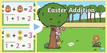 Easter Addition PowerPoint - easter, add, adding, addition, maths