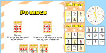 PR Spinner Bingo - speech sounds, phonology, articulation, speech therapy, cluster reduction, clusters, blends