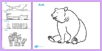 We're Going On A Bear Hunt Colouring Sheet - Bear Hunt, Michael Rosen, resources, colouring, fine motor skills, poster, worksheet, vines, A4, display,  swishy swashy, Bear Hunt, Bear Hunt Story, splash splosh, thick oozy, deep dark c,welsh,cymru