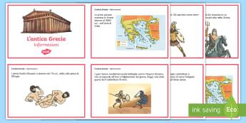 L'antica Grecia Schede informative - storia, storico, antichi, studiare, italiano, italian, materiale, scolastico