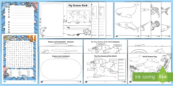 World Oceans Day First Level  Activity Pack - CfE World Oceans Day (8th June), Oceans Day, Oceans of the World, Scottish events, June global days,