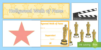 Hollywood Walk of Fame End of Year Display Pack - leavers, year 6, transition, leaving, new class,  - leavers, year 6, transition, leaving, new class,