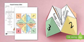 French  Fortune Teller Activity