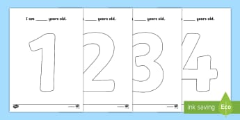 Age 1 to 10 Big Numbers Colouring Pages - Big, numbers, colouring, sheet, colering, colourng, couloring, activity, sheet, numerals, 1, 10