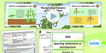 Plants: Jack and the Beanstalk: Information Texts 1 Y3 Lesson Pack - Traditional stories, life processes, living things, explanation texts, seed