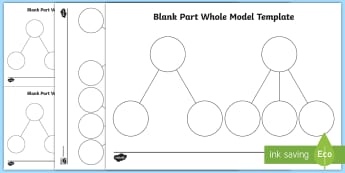 Part Whole Blank Model Template - shanghai maths, singapore maths, part whole, part part whole, maths, visual aid, learning aid, concr
