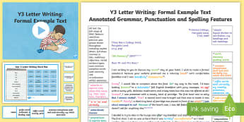 Ks2 formal letters non fictions literacy ks2 y3 letter writing formal modelexample text example texts y3 exemplification spiritdancerdesigns Choice Image