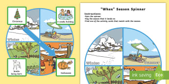 When Season Spinner - seasons, weather, visual aids, spinners